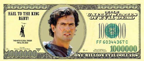 Evil Dead Dollar Bill
