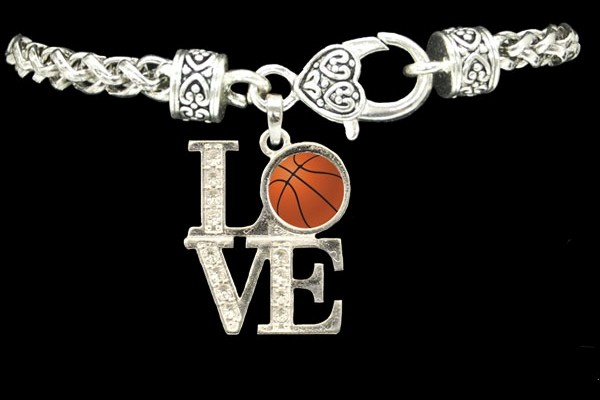 LOVE basketball bracelet