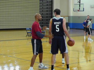 Monty Williams worked with Jeff Withey on his post offense and post D on Saturday