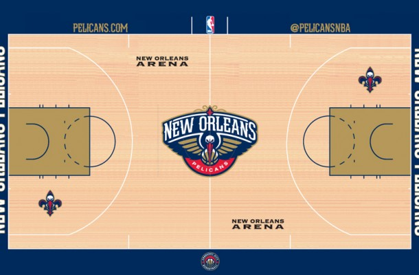 New Orleans Pelicans Court Design Revealed July 1 New