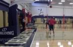 Pelicans practice